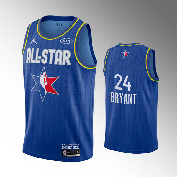 nba All Star 2020 trikots Kobe Bryant 24 herren blau