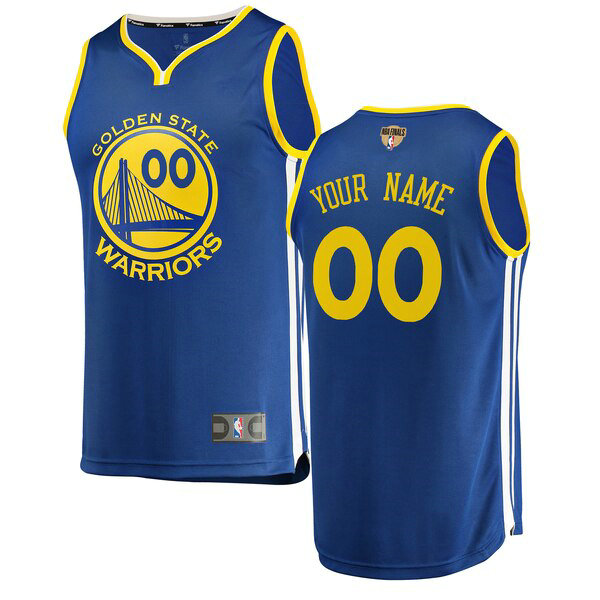 nba Golden State Warriors trikots Custom 0 2019 Icon Edition herren blau