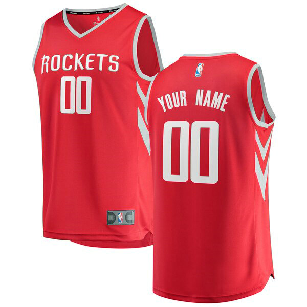 nba Houston Rockets trikots Custom 0 Icon Edition herren rot