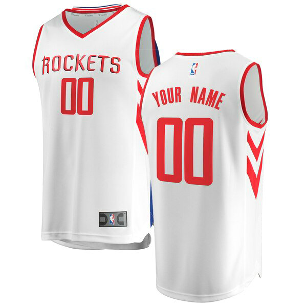 nba Houston Rockets trikots Custom 0 Association Edition herren weiß
