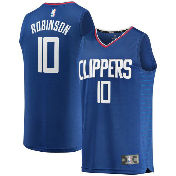 nba Los Angeles Clippers trikots Jerome Robinson 0 Icon Edition herren blau