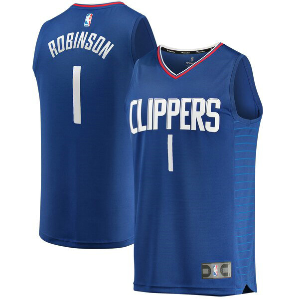nba Los Angeles Clippers trikots Jerome Robinson 1 Icon Edition herren blau