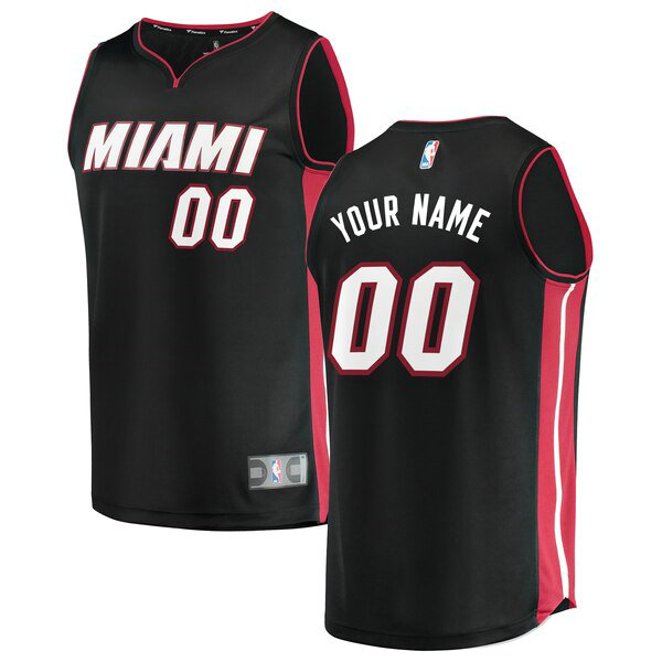 nba Miami Heat trikots Custom 0 Icon Edition herren schwarz