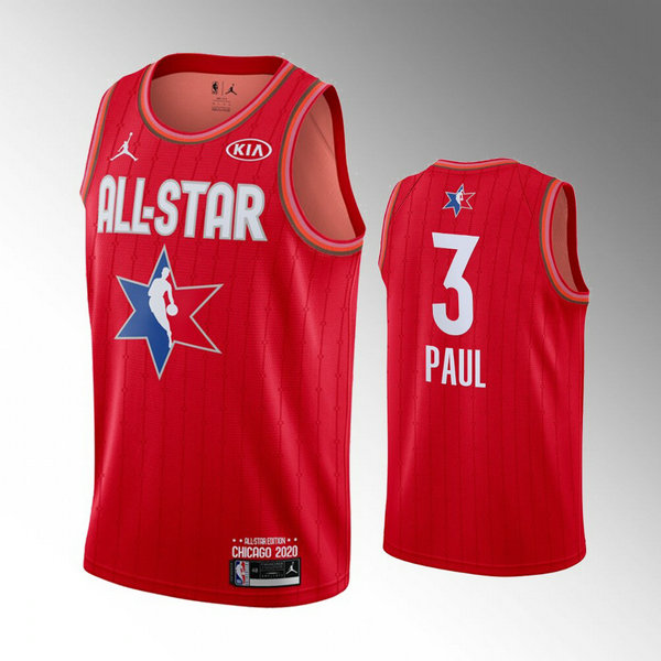 nba All Star 2020 trikots Chris Paul 3 herren rot