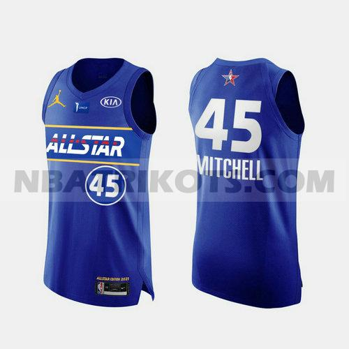 nba All Star trikots Donovan Mitchell 45 2021 Herren Blau