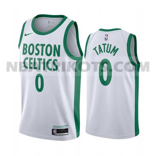 nba Boston Celtics trikots Jayson Tatum 0 2020-21 City Edition herren Weiß