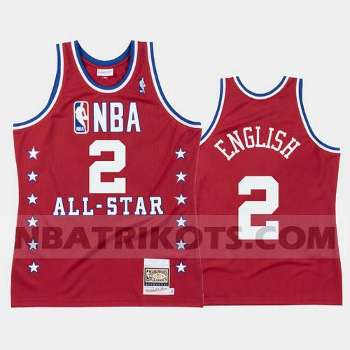 nba Denver Nuggets trikots Alex English 2 All Star 1988 herren rot