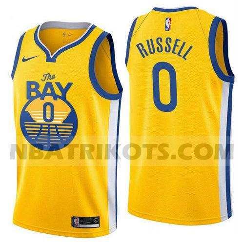 nba Golden State Warriors trikots D'Angelo Russell 0 stadt 2019 Herren Gelb