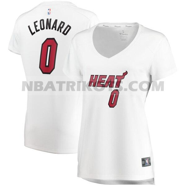 nba Miami Heat trikots Meyers Leonard 0 association edition damen weiß