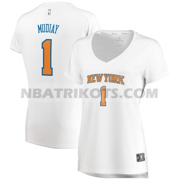 nba New York Knicks trikots Emmanuel Mudiay 1 association edition damen weiß