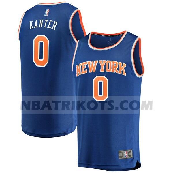 nba New York Knicks trikots Enes Kanter 0 icon edition herren blau