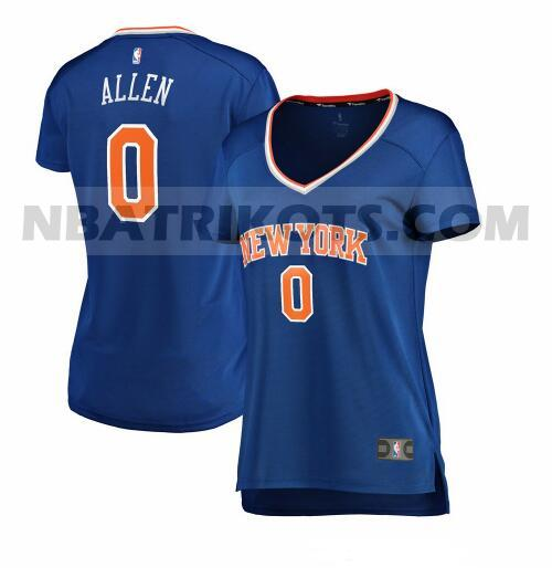 nba New York Knicks trikots Kadeem Allen 0 icon edition damen blau
