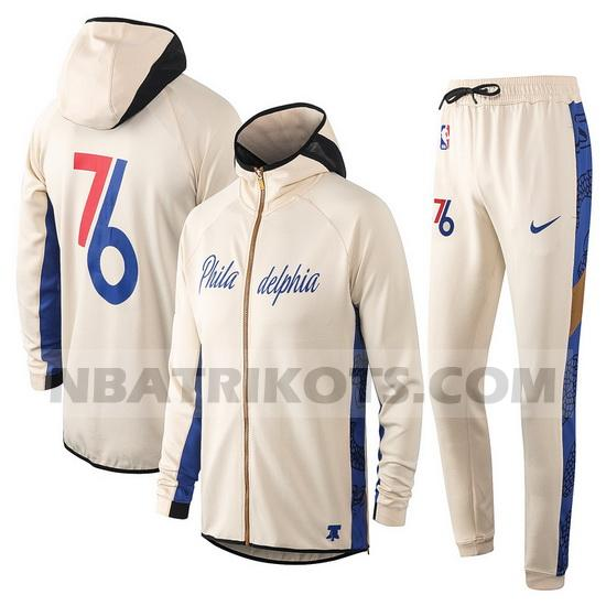nba Philadelphia 76ers Trainingsanzüge Nike nba Showtime herren Aprikose