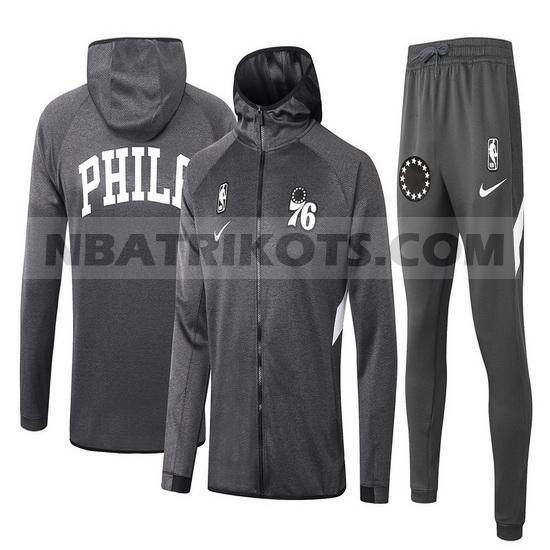 nba Philadelphia 76ers Trainingsanzüge Nike nba Showtime herren Grau