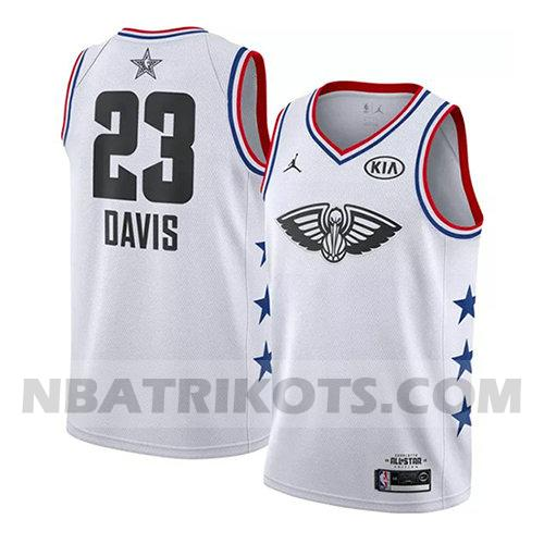 nba all star 2019 trikots Anthony Davis 23 herren weiß