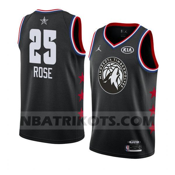 nba all star 2019 trikots Derrick Rose 25 herren schwarz