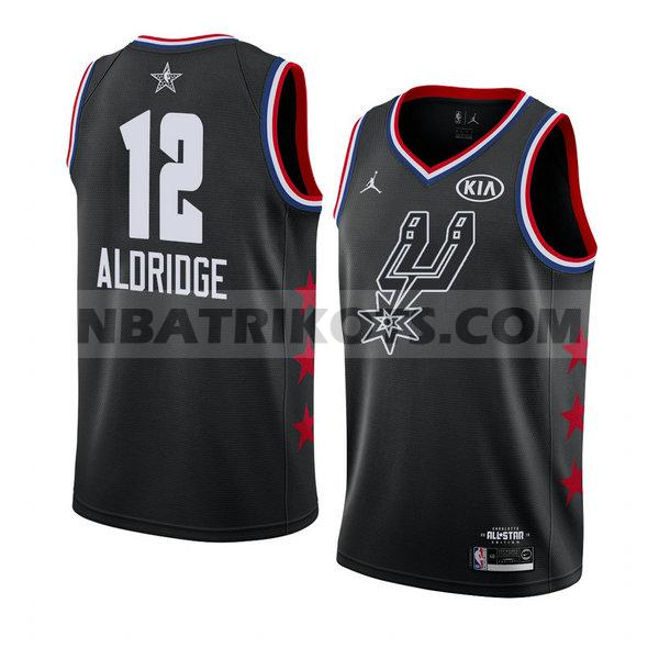 nba all star 2019 trikots Lamarcus Aldridge 12 herren schwarz