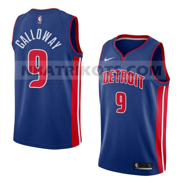 nba detroit pistons trikots Langston Galloway 9 symbol 2018 herren blau