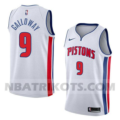 nba detroit pistons trikots Langston Galloway 9 verein 2018 herren weiß