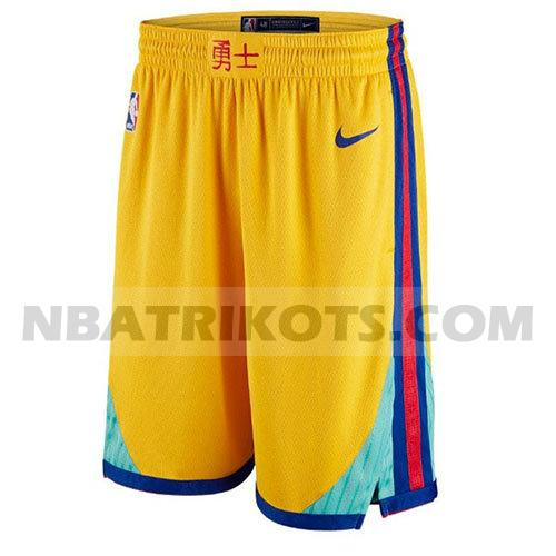 nba golden state warriors kurzen hosen stadt herren gelb