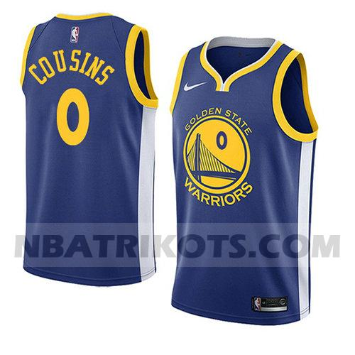 nba golden state warriors trikots Demarcus Cousins 0 symbol 2018-19 herren blau