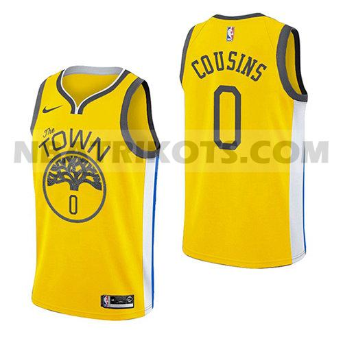 nba golden state warriors trikots Demarcus Cousins 0 verdient 2018-19 herren gelb