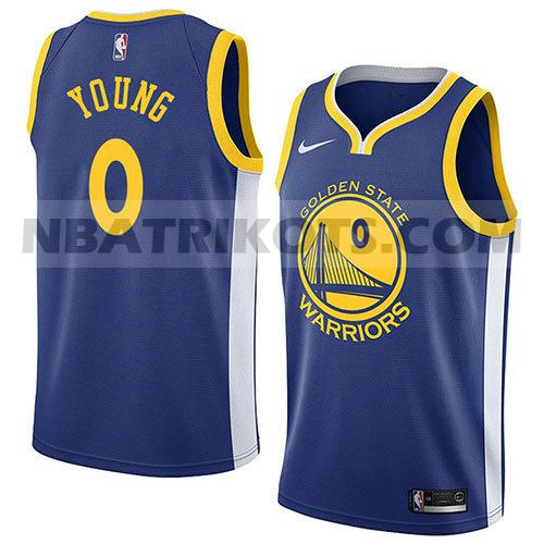 nba golden state warriors trikots Nick Young 0 symbol 2018 herren blau