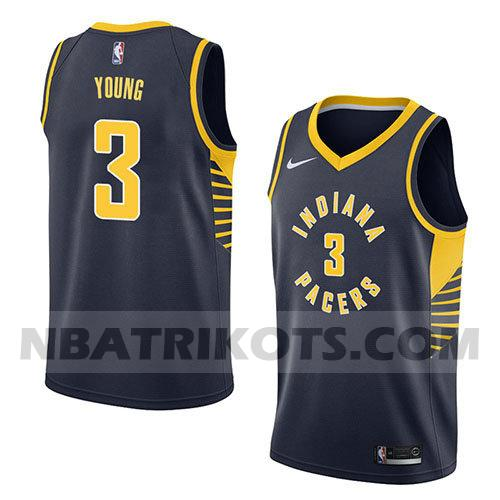 nba indiana pacers trikots Joe Young 3 symbol 2018 herren blau