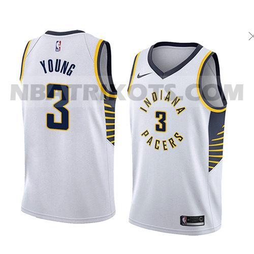 nba indiana pacers trikots Joe Young 3 verein 2018 herren weiß