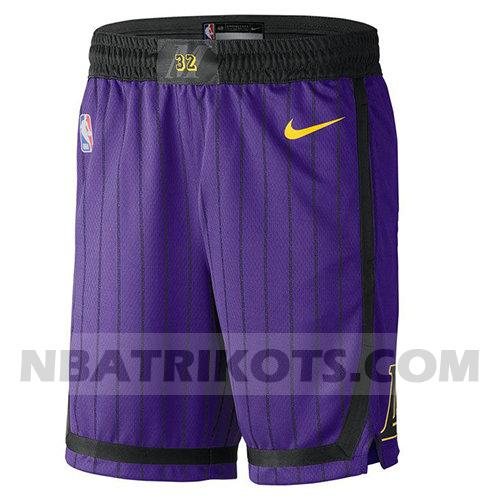 nba los angeles lakers kurzen hosen stadt 2018-19 herren lila