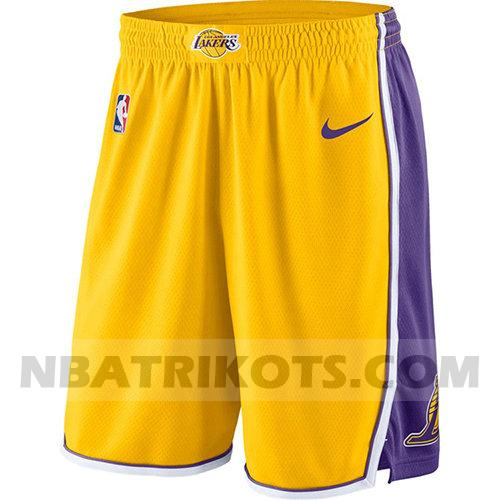 nba los angeles lakers kurzen hosen symbol 2018-19 herren gelb