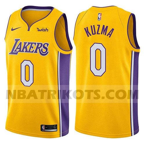 nba los angeles lakers trikots Kyle Kuzma 0 2017-18 herren gelb