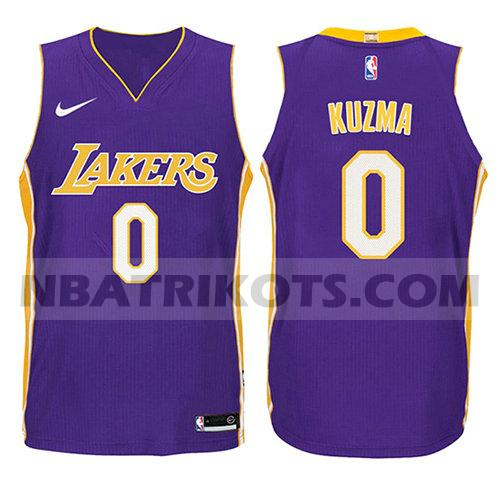 nba los angeles lakers trikots Kyle Kuzma 0 aussage 2017-18 kinder lila