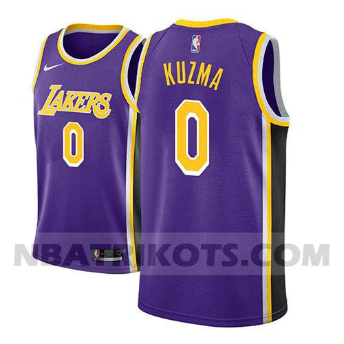 nba los angeles lakers trikots Kyle Kuzma 0 aussage 2018-19 herren lila