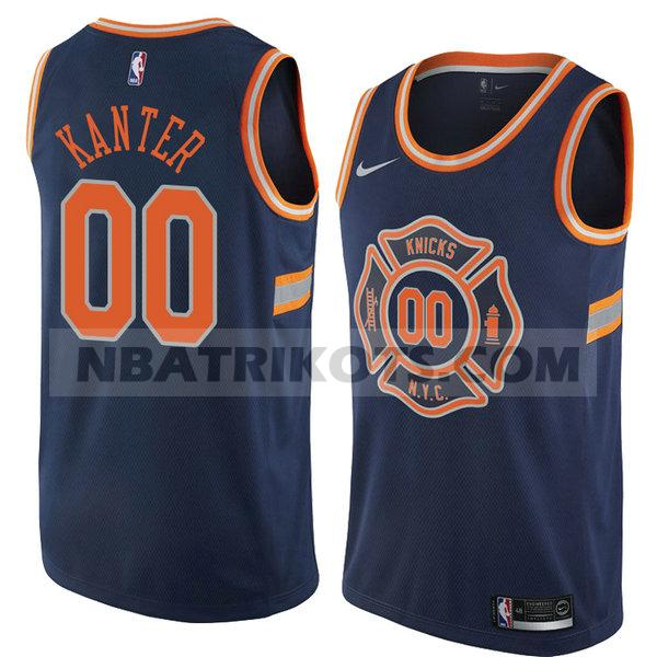 nba new york knicks trikots Enes Kanter 0 stadt 2018 herren blau