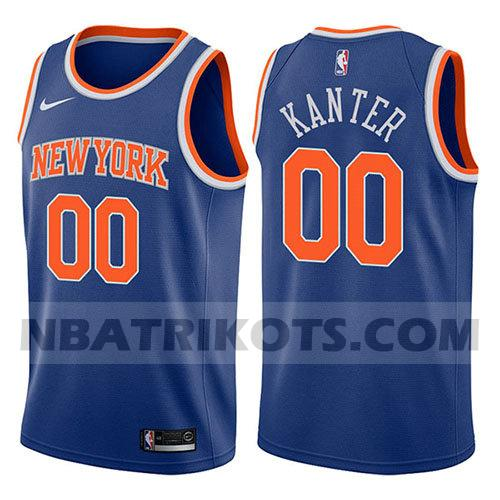 nba new york knicks trikots Enes Kanter 0 symbol 2017-18 herren blau